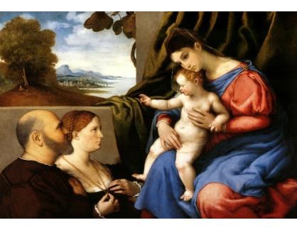 VLL 11 Lorenzo Lotto - Madonna s dítětem a donátory
