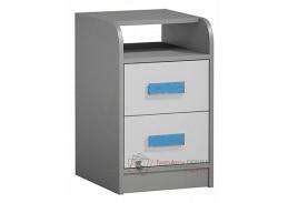 GYT 09, kontejner k pracovnímu stolu, antracit / bílá / modrá