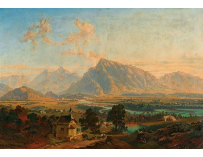 Slavné obrazy III-DDSO-568 Emil Theodor Richter - Salzburg