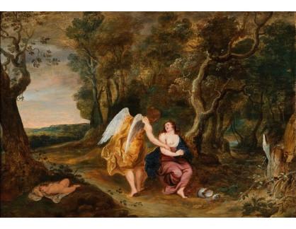 Slavné obrazy III-DDSO-603 Frans Wouters - Anděl, Agar a Izmael v poušti