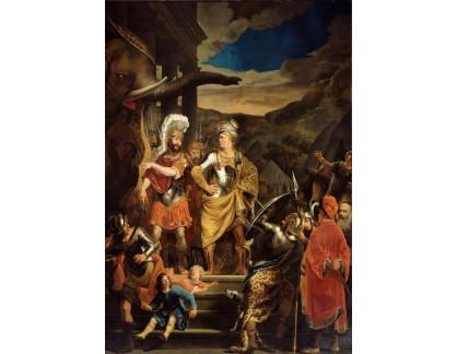 Slavné obrazy XVII-42 Ferdinand Bol - Fabritius a Pyrrhus