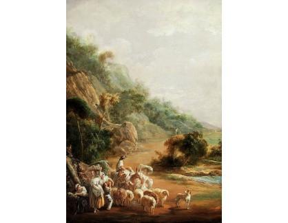 Krásné obrazy II-368 Luis Paret - Scéna s vesničany