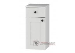 STRADONE, dolní koupelnová skříňka 1-dveřová D30S/1 P/L s PD, bílá