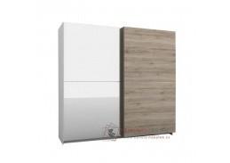 BETINO BX-72, šatní skříň se zrcadlem 220cm, dub sonoma