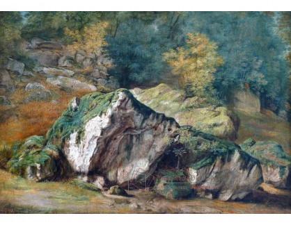 VF252 Théodore Rousseau - Studie skály a stromů