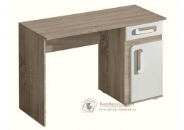 APETTITA 09, pracovní stůl, dub jasný / bílá