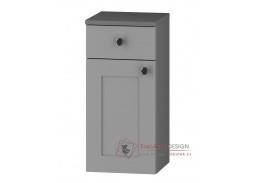 STRADONE, dolní koupelnová 1-dveřová D30S/1 P/L s PD, šedá