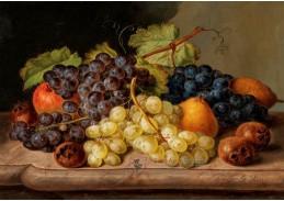 A-1357 Johann Georg Seitz - Zátiší s hrozny a hruškami