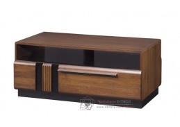 PORTI, konferenční stolek P-41, antický dub / černé sklo