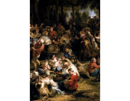 VRU91 Peter Paul Rubens - Hodování a tančení sedláků, detail