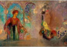 DDSO-2205 Odilon Redon - Žena v gotické arkádě