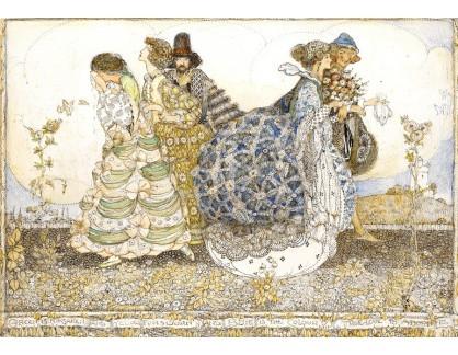Slavné obrazy XVI-181 Annie French - Zelená, modrá a žlutá