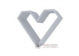 ARIZA, police ve tvaru srdce, šedá