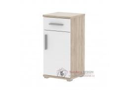LESSY LI 03, dolní koupelnová skříňka, dub sonoma / bílý lesk