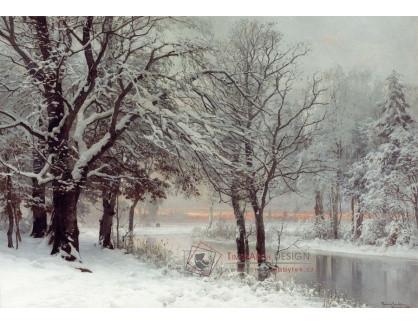 Slavné obrazy IV-297 Anders Andersen-Lundby - Zimní večer