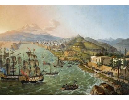 Slavné obrazy XVI-332 Carl Ludwig Hofmeister - Flotila před Alžírem