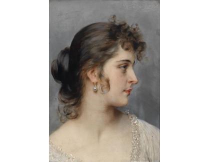 Slavné obrazy X 131 Eugene von Blaas - Portrét mladé ženy