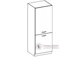 CHAMONIX II, potravinová skříň 2-dveřová DG40 - pravá, dub ferrara / dub tmavé legno