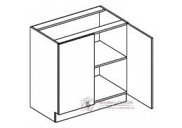 LUCIA, dolní skříňka 2-dveřová D80, bílá / dub sonoma
