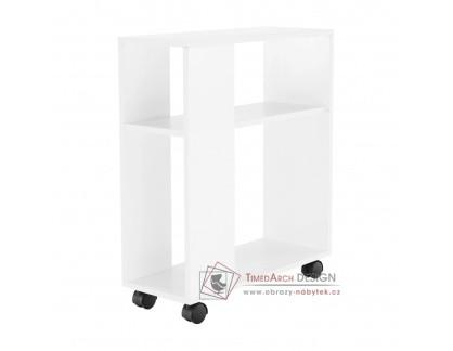 ZOELA NEW, příruční regál - stolek, bílá