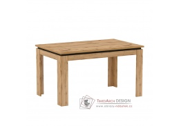 TORONTA S, jídelní rozkládací stůl, dub wotan