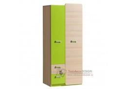 EGO L01, věšáková skříň, jasan / zelená