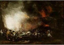 D-6284 Francisco de Goya - Požár nemocnice