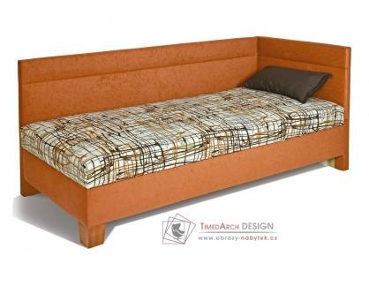 VARIO, čalouněná postel 80x200cm, čela u hlavy a boku