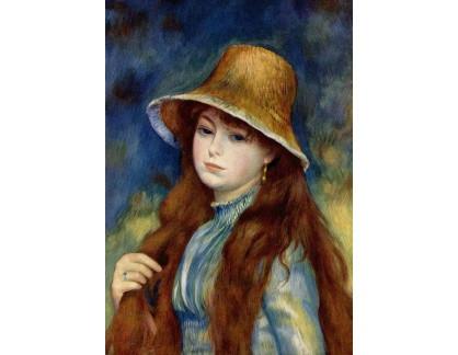 R14-25 Pierre-Auguste Renoir - Mladá dívka ve slaměném klobouku