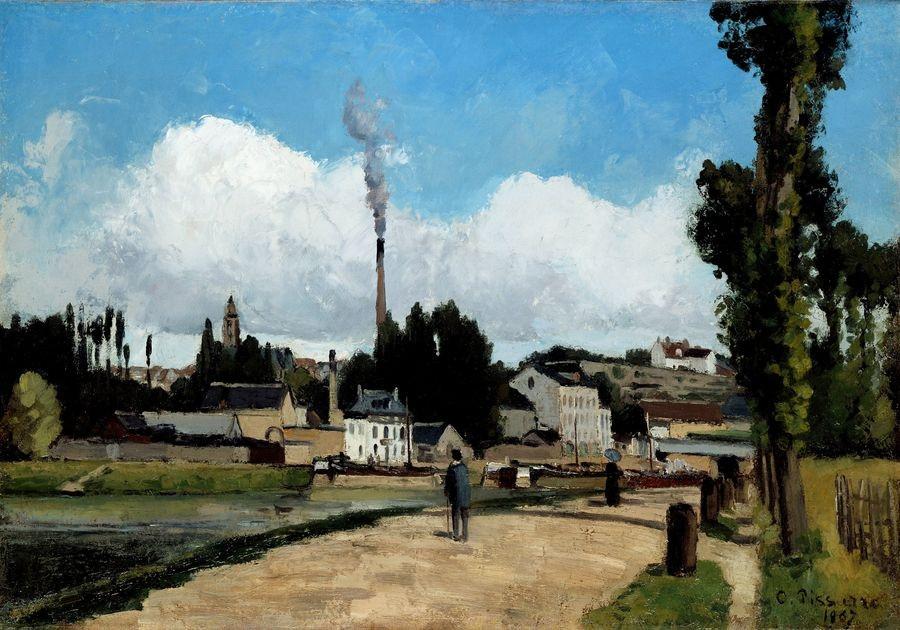 VCP-447 Camille Pissarro - Na břehu Oise v Pontoise