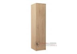 VIKA, šatní skříň 1D 45cm, dub sonoma
