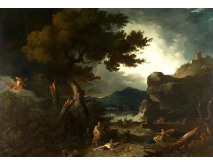 Slavné obrazy XIV-67  Richard Wilson - Napadení dětí Niobe