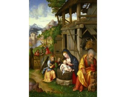 Krásné obrazy II-323 Lorenzo Leonbruno z Mantovy - Narození Páně