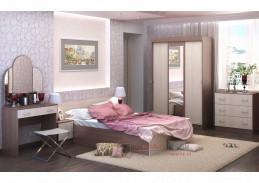 BASIA II, ložnicová sestava nábytku, jasan šimo tmavý / jasan šimo světlý