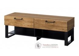 MOSAIC, televizní stolek 24, dub / černá