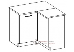 CHAMONIX II, dolní rohová skříňka DRP - pravá, dub ferrara / dub tmavé legno