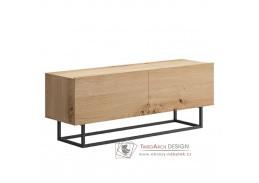 SPRING ERTV120, televizní stolek bez podstavy, dub artisan