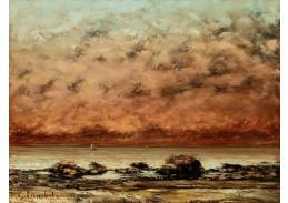 D-8157 Gustave Courbet - Černé skály v Trouville