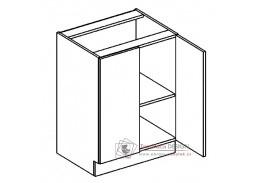 Dolní skříňka dvojdvéřová D60 PREMIUM de LUX olše