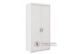 ELINA, šatní skříň 2D 90cm, bílá