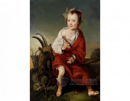VH625 Neznámý autor - Mladá dívka s flétnou a kozou