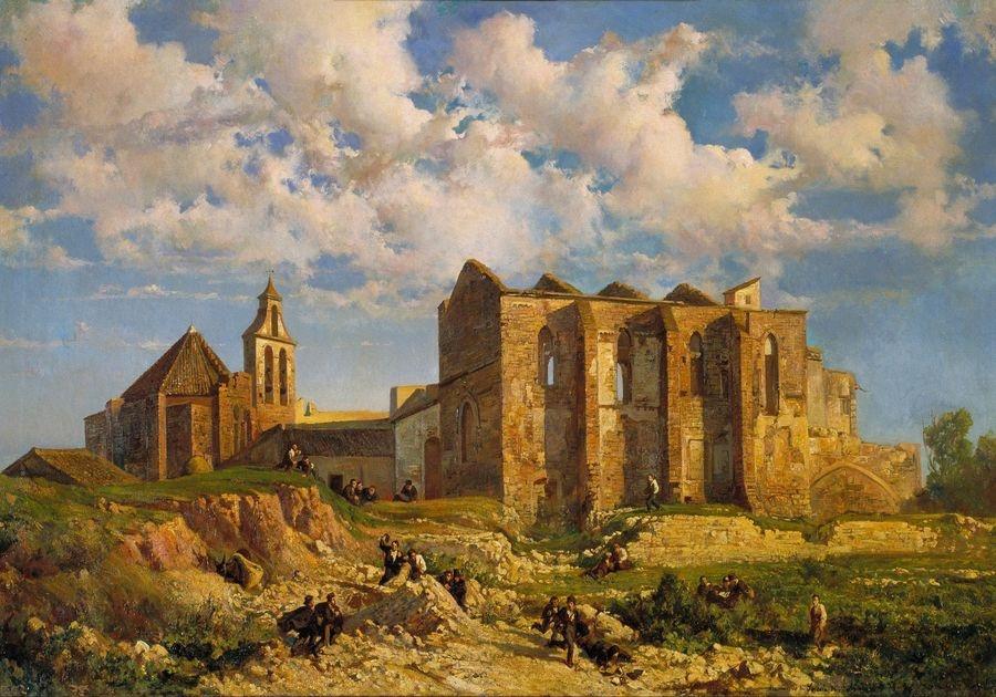 Slavné obrazy XIV-50 Ramon Martí i Alsina - Ruiny kostela svatého hrobu