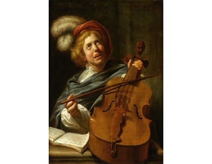 Krásné obrazy II-269 Judith Leyster - Violoncellista