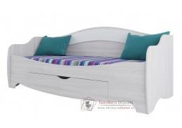 AKVAREL, postel 80x200cm, jasan angkor světlý / bílá mat