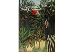 D-7890 Henri Rousseau - Opice a papoušek v Panenském lese