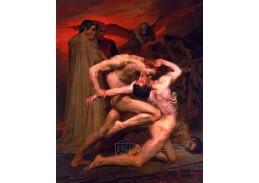 Adolph William Bouguereau - Dante a Virgil v pekle, 90x60cm