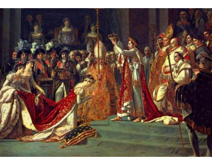Slavné obrazy V-120 Jacques-Louis David - Korunovace Napoleona
