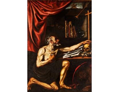 Krásné obrazy II-370 Luis Tristán - Pokání svatého Jeronýma