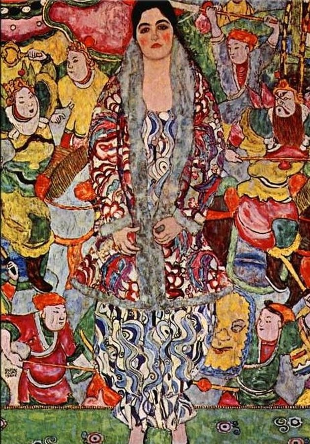 R3-2 Gustav Klimt - Portrét Friederike Marie Beer