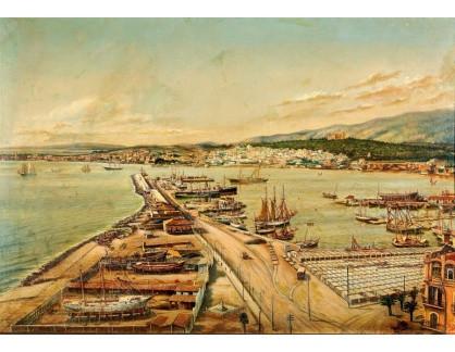 Slavné obrazy IX DDSO-949 Neznámý autor - Pohled na přístav a město Terst
